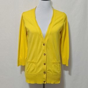 Mossimo Cheery Yellow Cotton Cardigan | L